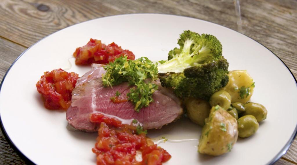 Tasty plate of icelandic lamb