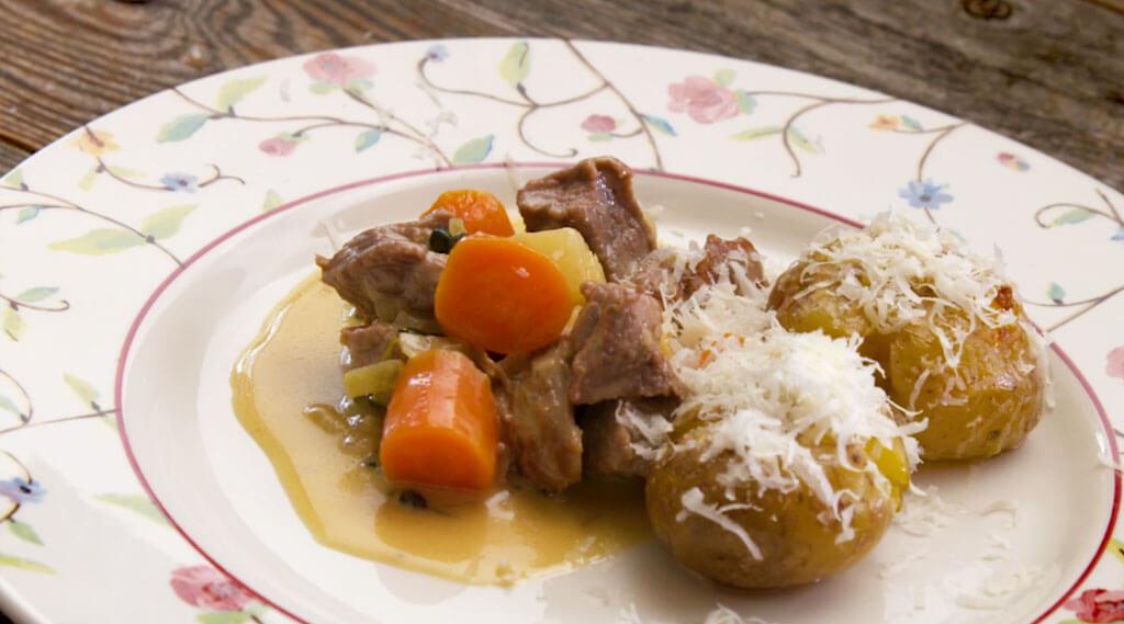 Autum Stew served on dish