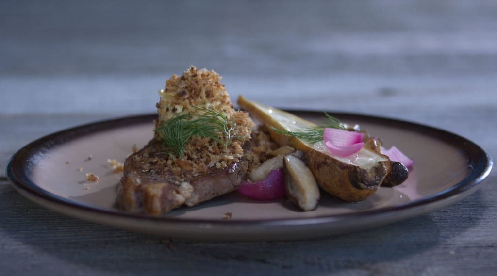 delicious lamb chop on a dish